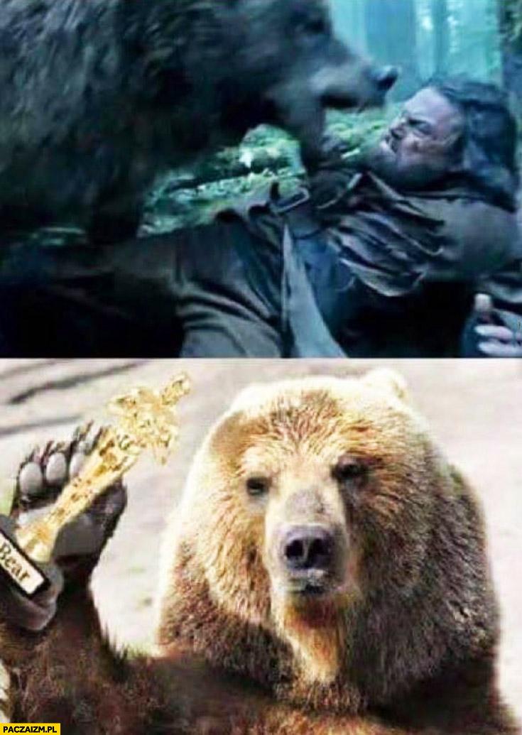 Oscar Leonardo DiCaprio niedźwiedź zabrał
