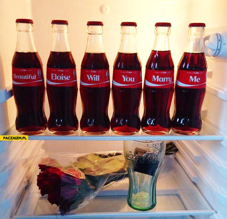 Oświadczyny Coca-Cola beautiful Eloise will you marry me