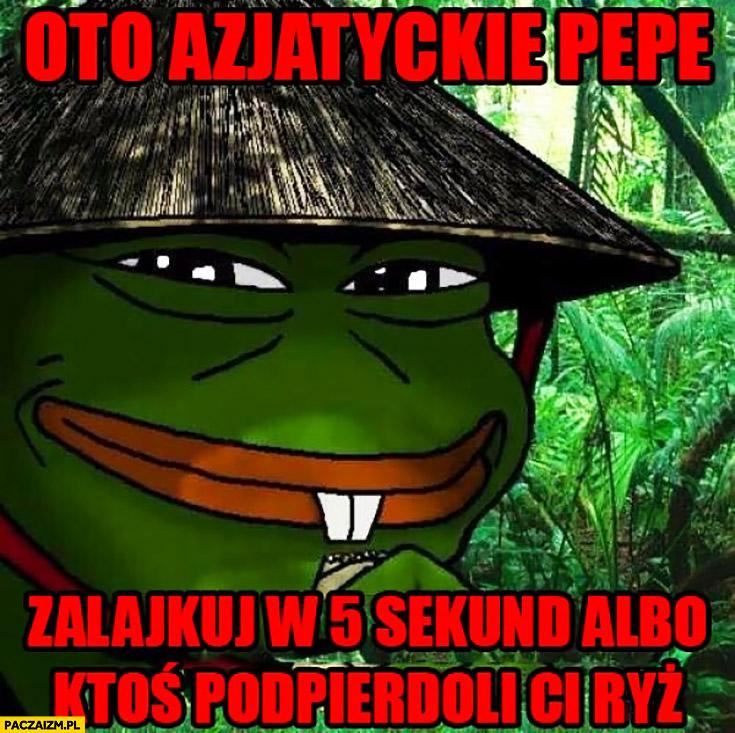 Oto azjatyckie Pepe, zalajkuj w 5 sekund albo ktoś podpierdzieli Ci ryż