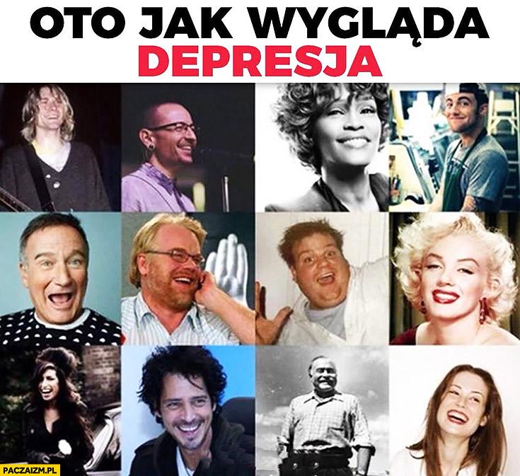 Oto jak wygląda depresja uśmiechnięte gwiazdy które popełniły samobójstwo