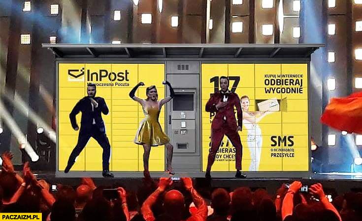 Paczkomat Mołdawia na Eurowizji scenografia tło wystrój koncert