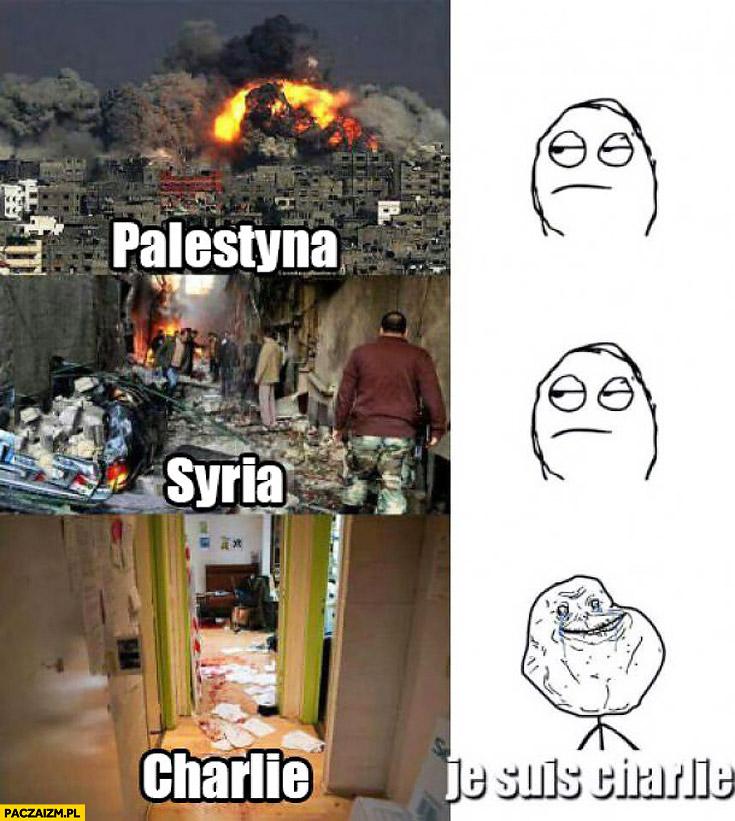 Palestyna Syria je suis charlie