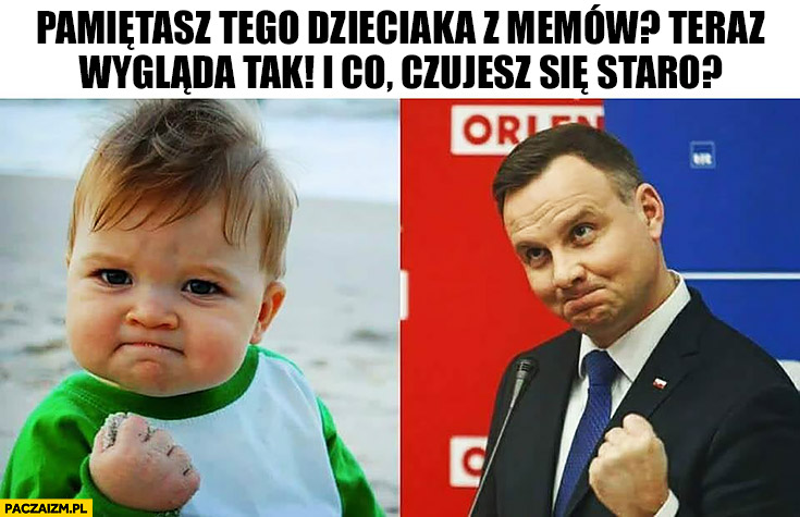 Pamiętasz tego dzieciaka z memów teraz wygląda tak. Andrzej Duda czujesz się staro?