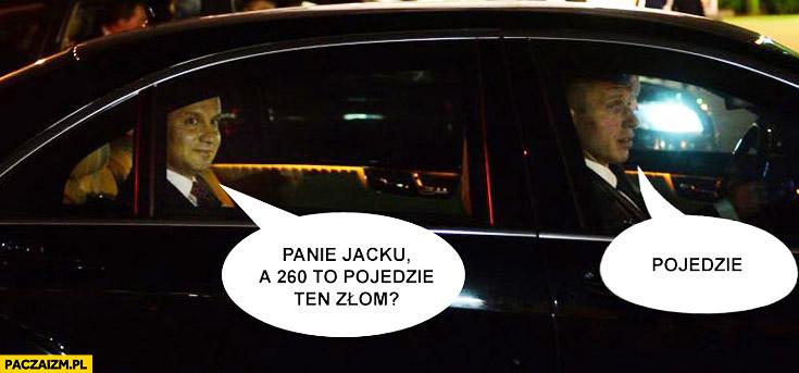 Panie Jacku, a 260 to pojedzie ten złom? Pojedzie. Duda wypadek BMW