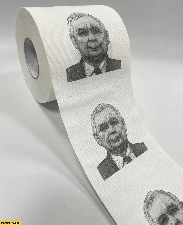 Papier toaletowy z Kaczyńskim srajtaśma twarz Kaczyńskiego