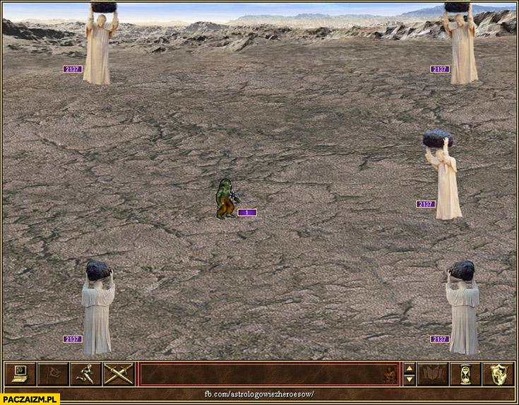 Papież z głazem pomnik Heroes of might and magic 3