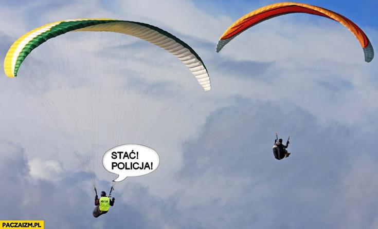 Paralotniarz stać policja zakaz wychodzenia obostrzenia