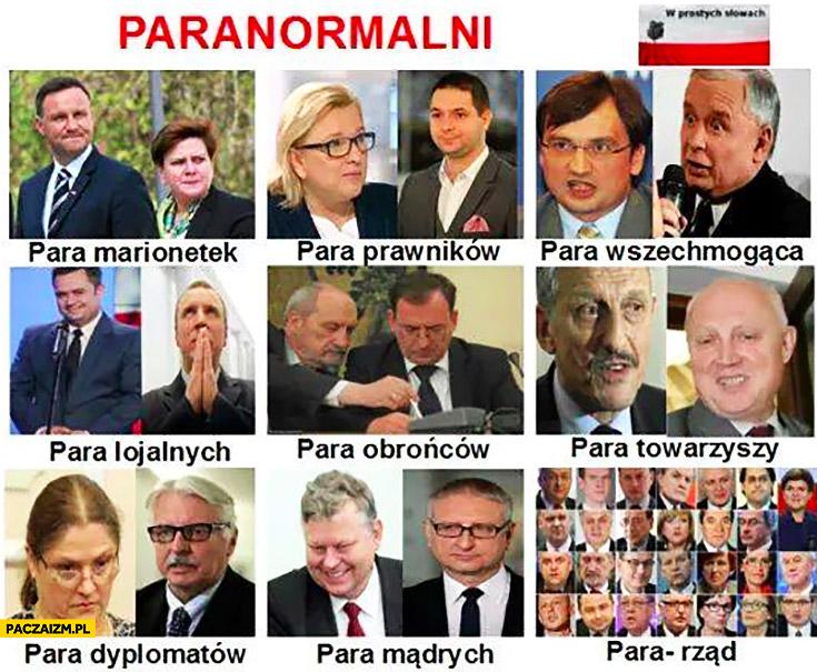Paranormalni PiS: para marionetek, prawników, wszechomogąca, lojalnych, obrońców, towarzyszy, dyplomatów, mądrych, para-rząd