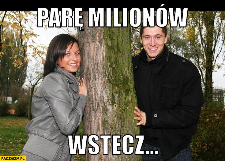 Parę milionów wstecz Robert Lewandowski z żoną Anna Lewandowska