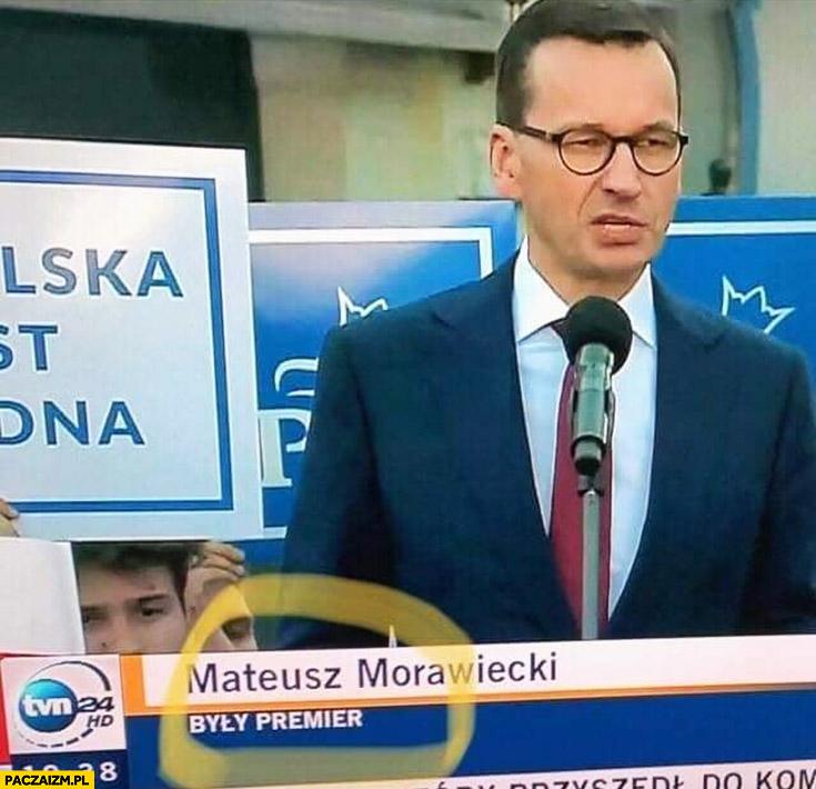 Pasek TVN Mateusz Morawiecki były premier podpis po aferze taśmowej