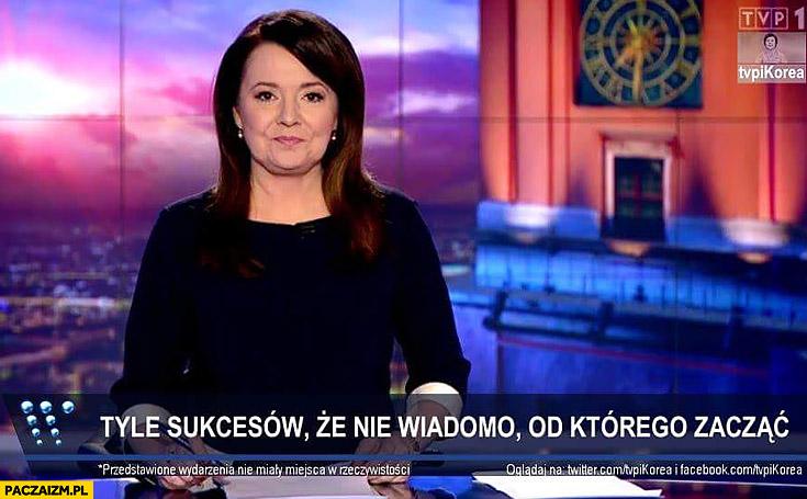 Pasek Wiadomości TVP tyle sukcesów, że nie wiadomo od którego zacząć