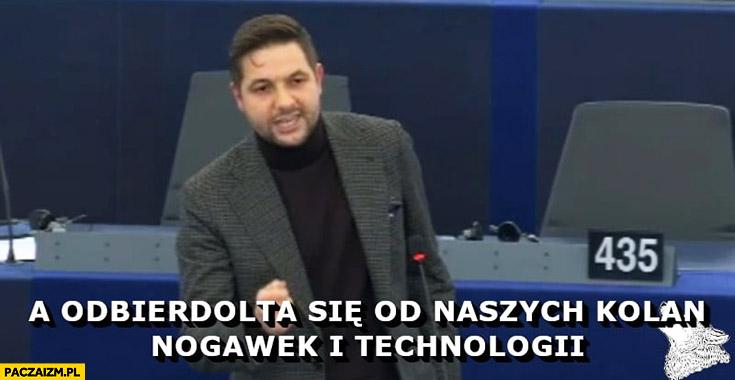 Patryk Jaki odbierdolta się od naszych kolan, nogawek i technologii w Europarlamencie