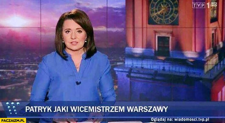 Patryk Jaki wicemistrzem Warszawy pasek Wiadomości TVP Holecka