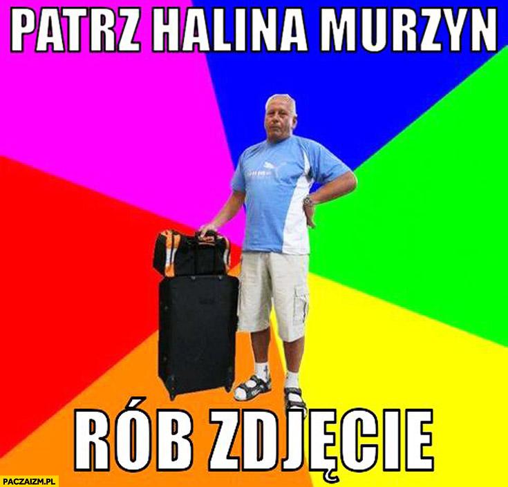 Patrz Halina murzyn rób zdjęcie Polak na wakacjach