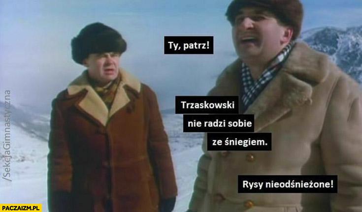 Patrz Trzaskowski nie radzi sobie ze śniegiem, Rysy nieodśnieżone