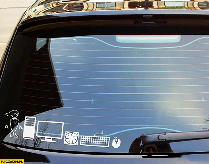 PC master race naklejki na samochodzie