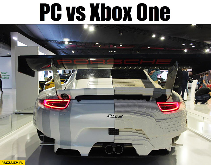 PC vs xBox one Porsche RSR LEGO
