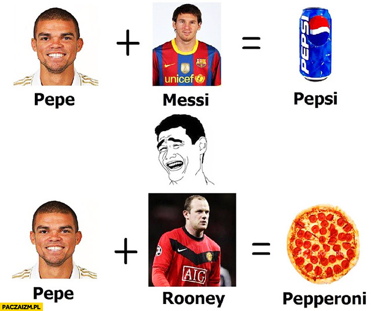 Pepe Messi Pepsi Pepe Rooney Pepperoni