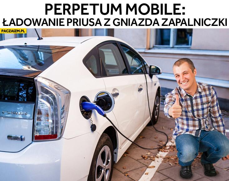 Perpetuum mobile: ładowanie Priusa z gniazda zapalniczki