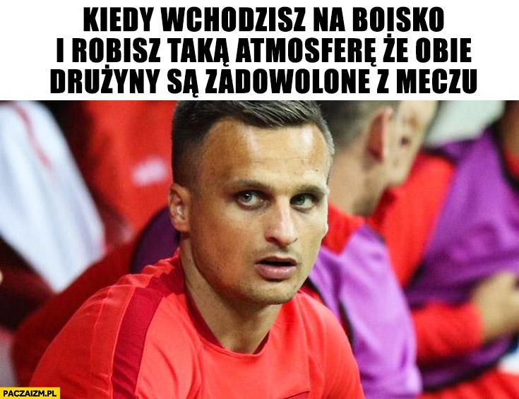 Peszko kiedy wchodzisz na boisko i robisz taką atmosferę, że obie drużyny są zadowolone z meczu Polska Japonia na mundialu