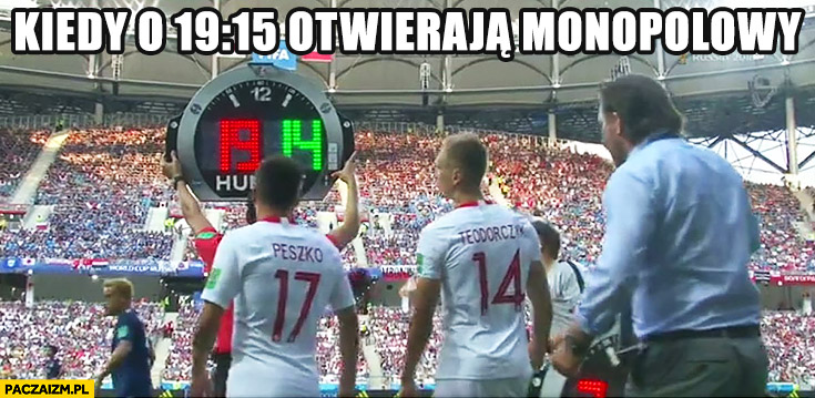 Peszko zmiana na meczu gdy o 19:15 otwierają monopolowy mecz Polska Japonia