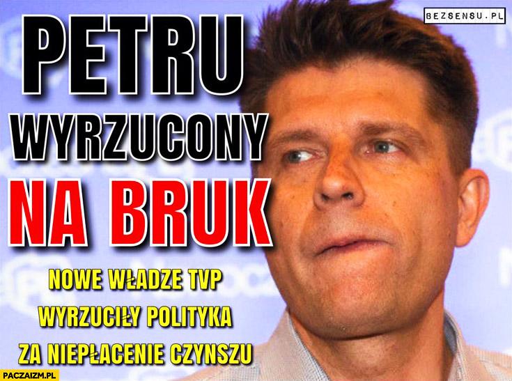 Petru wyrzucony na bruk z TVP za niepłacenie czynszu