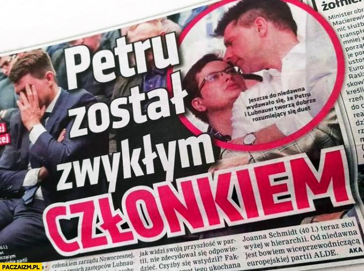 Petru został zwykłym członkiem nagłówek SE Super Express Nowoczesna
