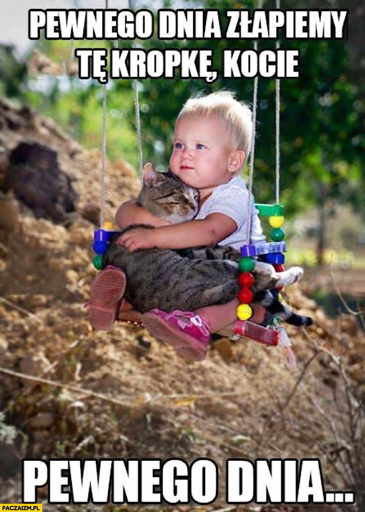Pewnego dnia złapiemy tę kropkę kocie, pewnego dnia