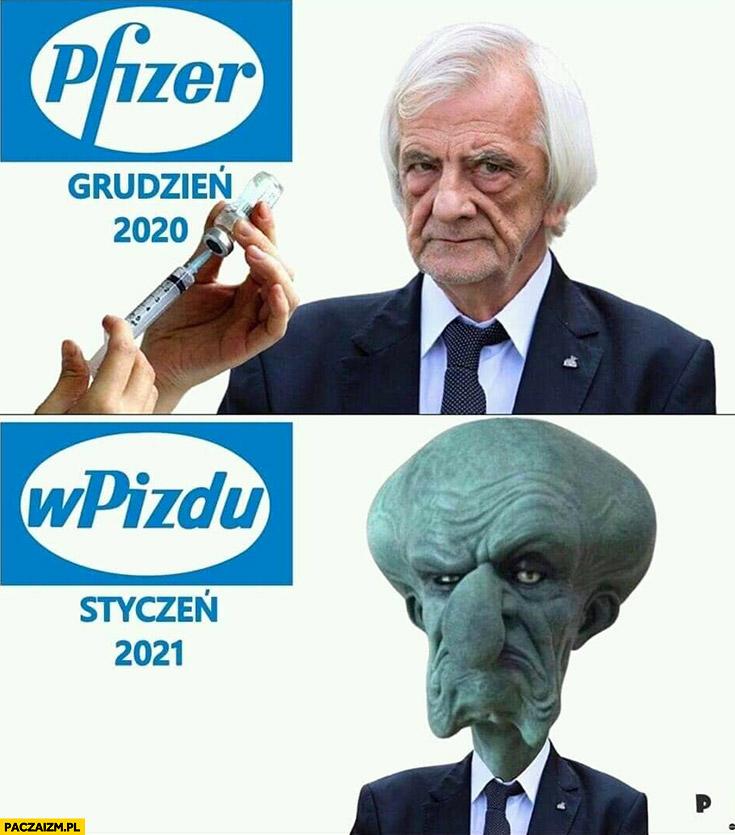 Pfizer grudzień 2020 vs wpizdu styczeń 2021 Terlecki