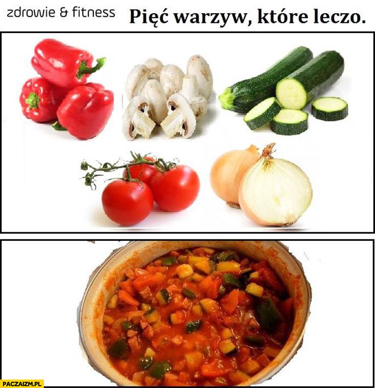 Pięć warzyw które leczą leczo