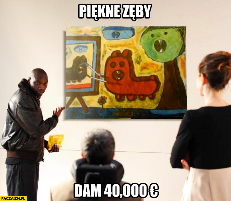 Piękne zęby, dam 40k euro obraz film Nietykalni