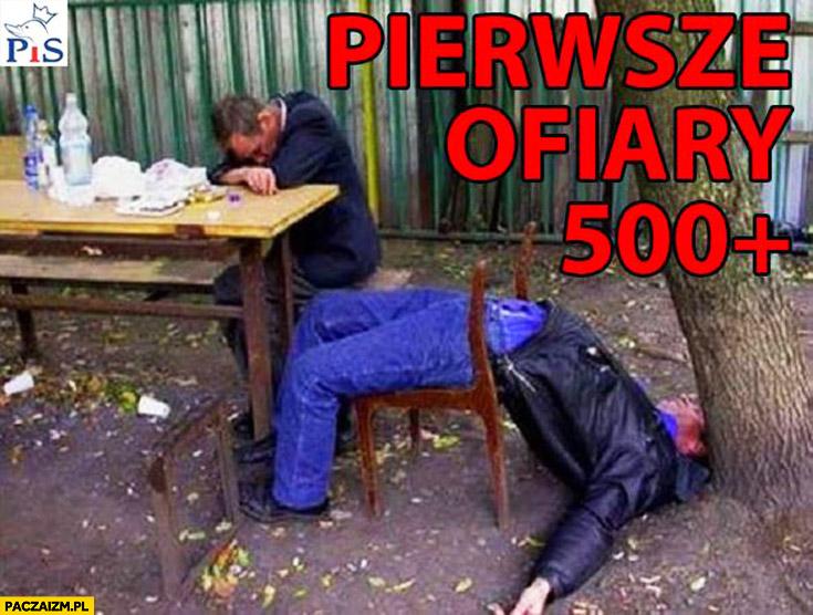 Pierwsze ofiary programu 500 plus pijaki żule menele