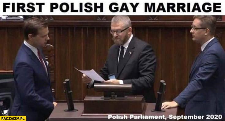 Pierwsze polskie małżeństwo homoseksualne konfederacja w sejmie