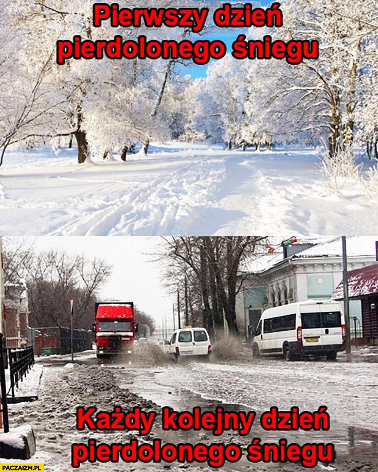 Pierwszy dzień pieprzonego śniegu, każdy kolejny dzień pieprzonego śniegu