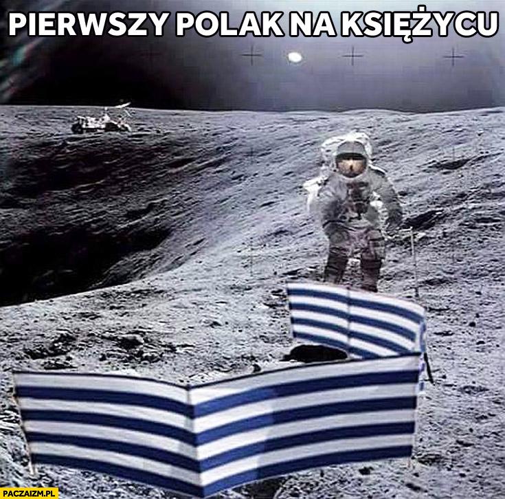 Pierwszy Polak na księżycu parawan