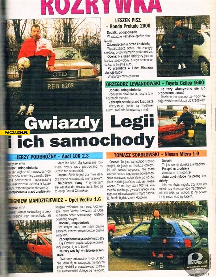 Piłkarze gwiazdy Legii i ich samochody