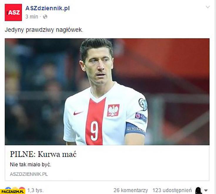 Pilne kurwa mać ASZ Dziennik mecz Polska Portugalia