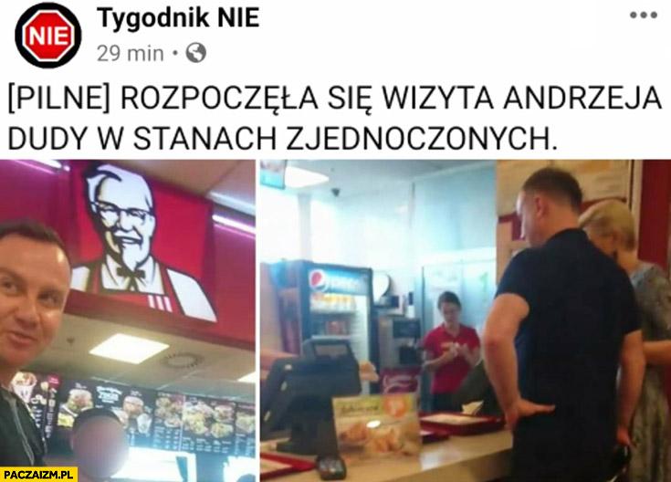 Pilne rozpoczęła się wizyta Andrzeja Dudy w Stanach Zjednoczonych kfc
