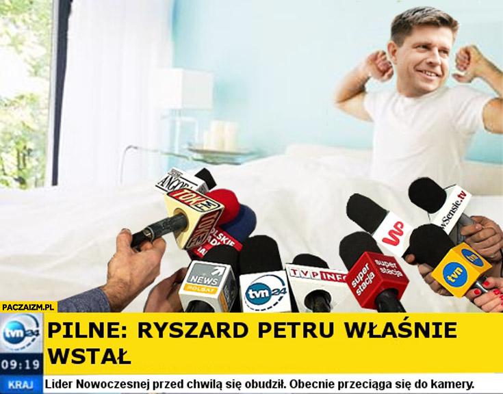 Pilne Ryszard Petru właśnie wstał TVN