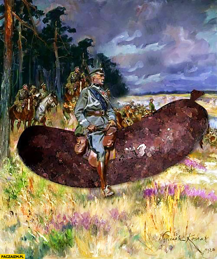 Piłsudski na kaszance Józef Marszałek obraz przeróbka
