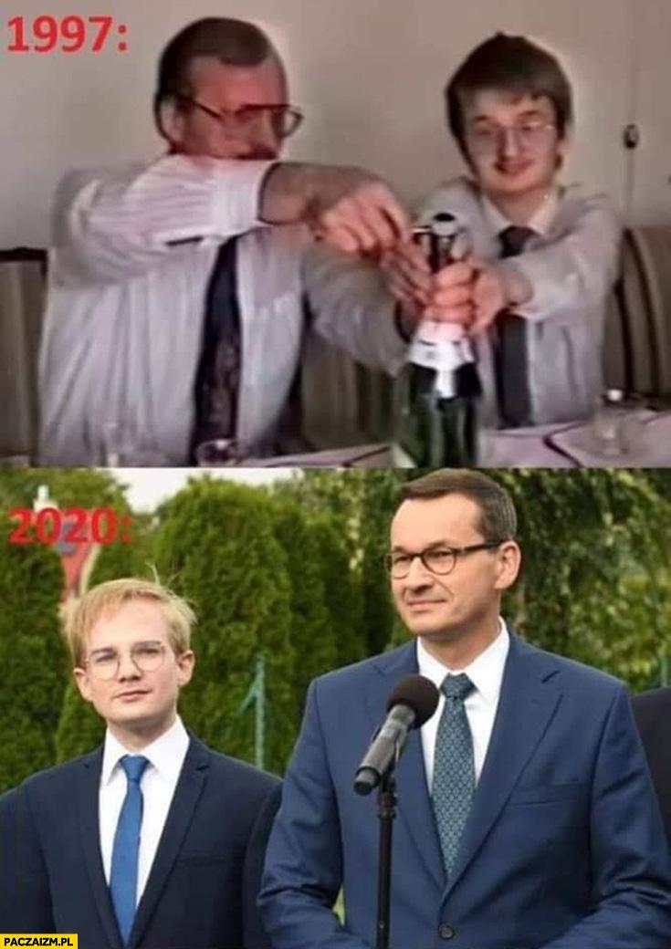 Piotr Patkowski 1997 otwiera szampana 2020 w rządzie Morawieckiego