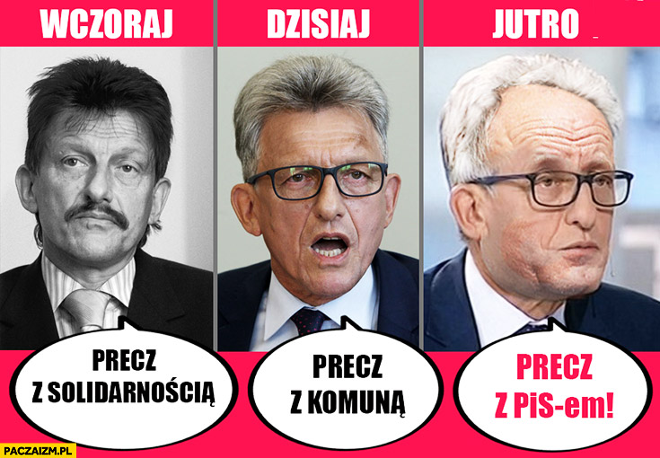 Piotrowicz wczoraj: precz z Solidarnością, dzisiaj: precz z komuną, jutro: precz z PiSem