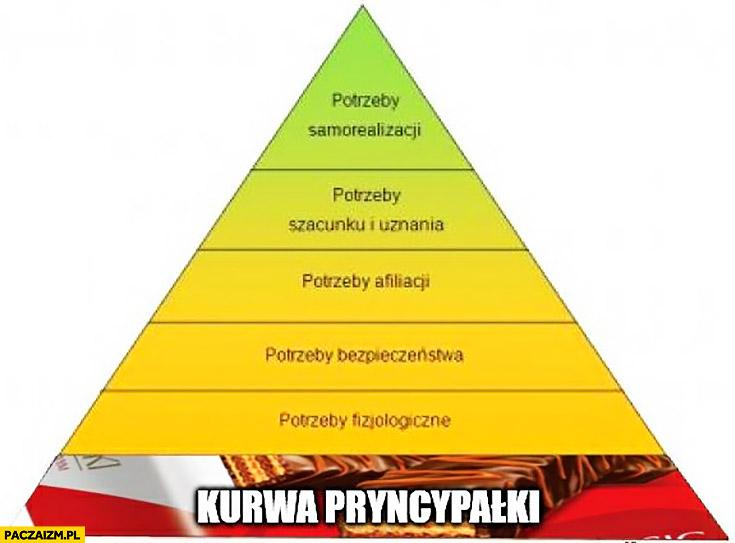 Piramida Masłowa na samym dole kurna pryncypałki