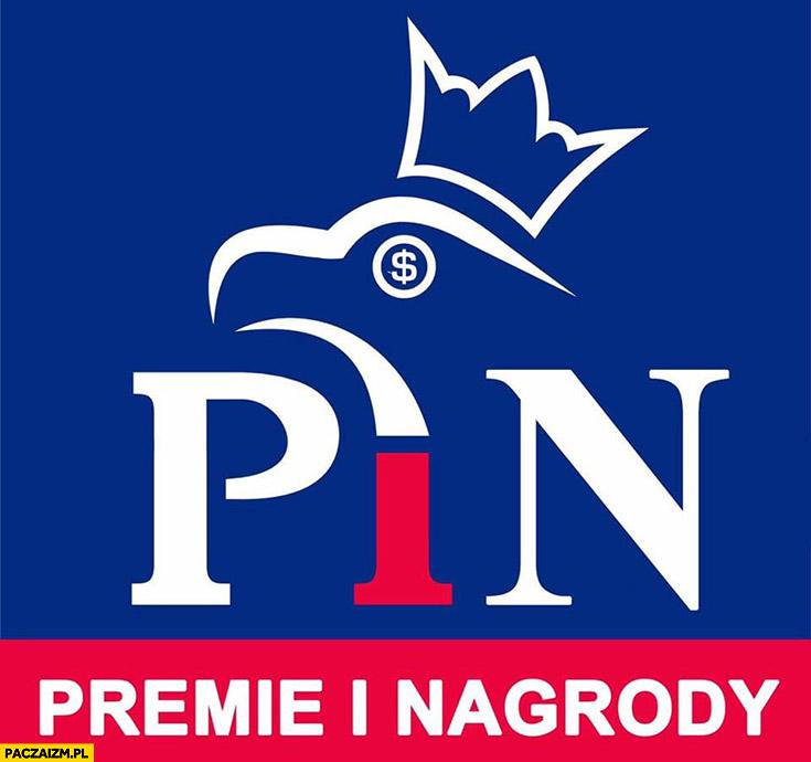 PiS PiN Premie i Nagrody Prawo i Sprawiedliwość logo przeróbka
