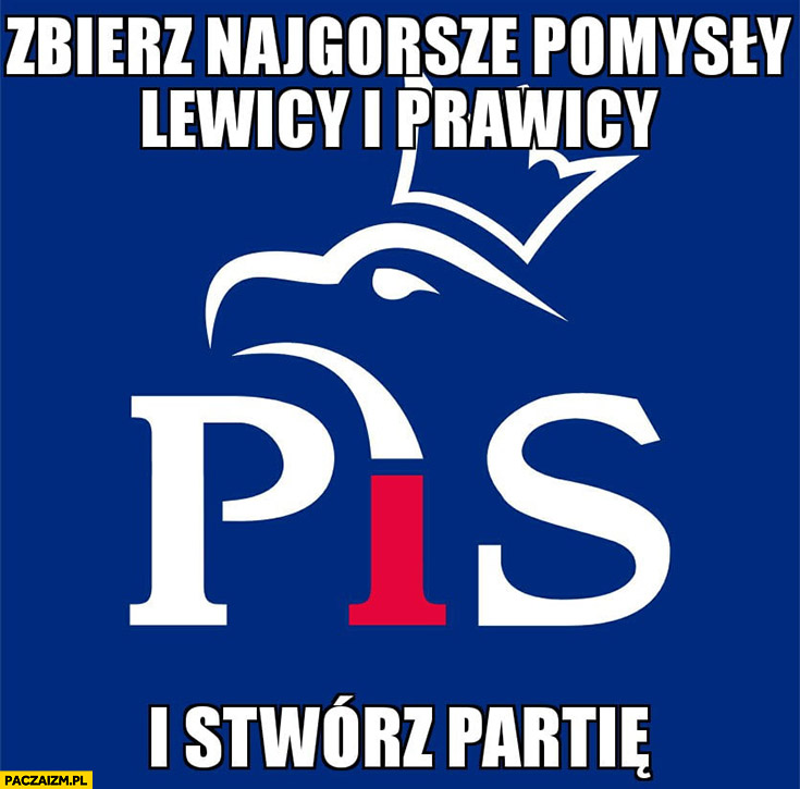 PiS Prawo i Sprawiedliwość zbierz najgorsze pomysły lewicy i prawicy i stwórz partię