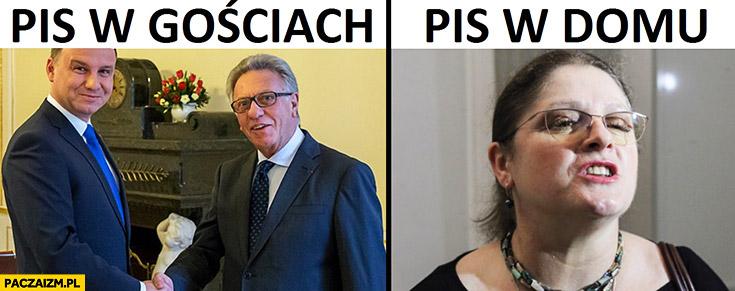 PiS w gościach uśmiechnięty Duda, PiS w domu posłanka Pawłowicz