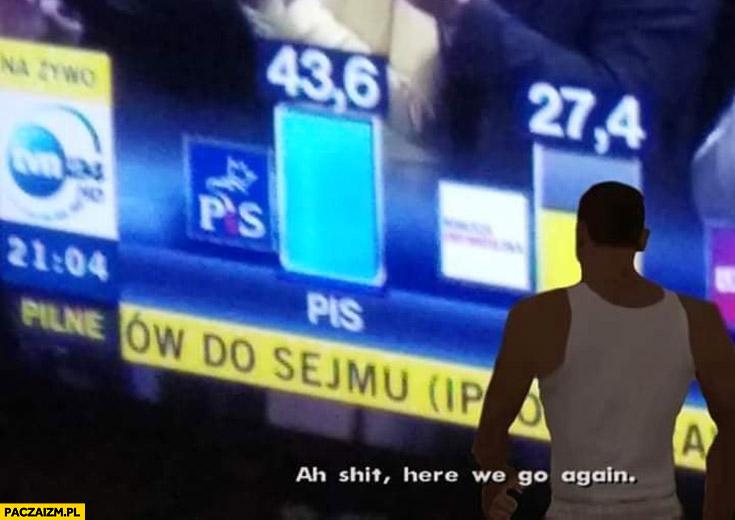 PiS wygrywa wybory do sejmu GTA Grand Theft Auto ah shit here we go again