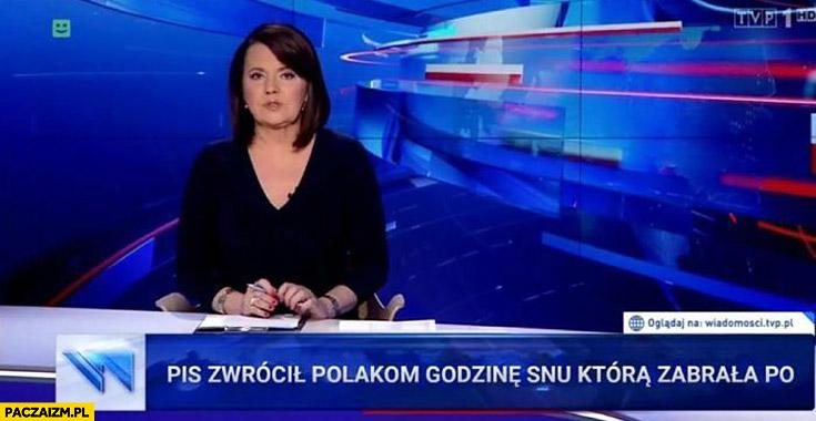 PiS zwrócił Polakom godzinę snu którą zabrała PO wiadomości TVP