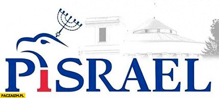PiSrael PiS Prawo i Sprawiedliwość Izrael przeróbka logo