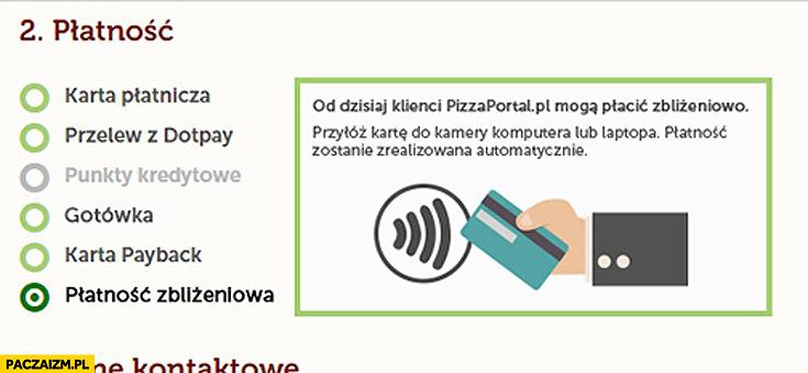 Pizzaportal płatnosc zbliżeniowa prima aprilis